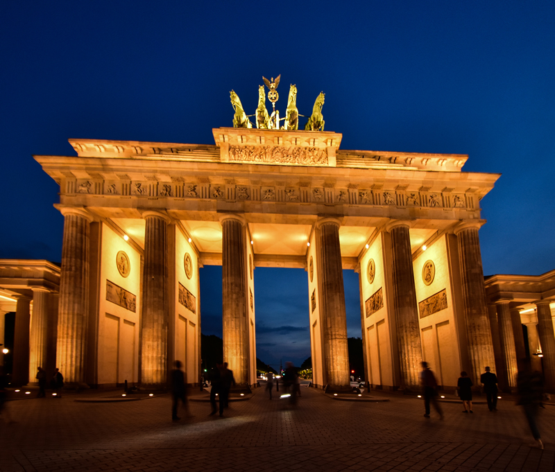 Berlin Brandenburg Gate at Twilight by Darlene Perkin