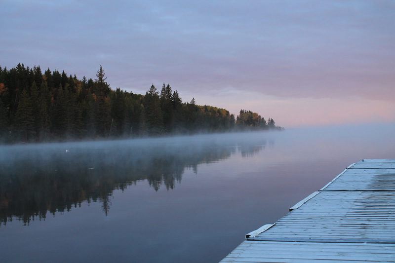 Misty Pier by Nancy MacKay
